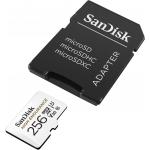 SanDisk 256GB High Endurance Micro SD (SDXC) Card U3, V30, 100MB/s R, 40MB/s W