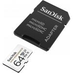 SanDisk 64GB High Endurance Micro SD (SDXC) Card U3, V30, 100MB/s R, 40MB/s W