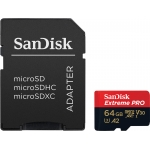 SanDisk 64GB Extreme Pro Micro SD (SDXC) Card U3, V30, A2, 170MB/s R, 90MB/s W